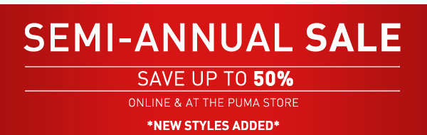 SEMI-ANNUAL SALE SAVE UP TO 50%