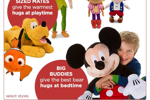 Small snugglers give the softest hugs on the go - Medium sized mates give the warmest hugs at playtime - Big buddies give the best bear hugs at bedtime | Shop Now