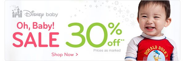 Disney baby Online Exclusive - Oh, Baby! SALE 30% off | Shop Now