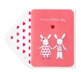 Love Bunnies Valentine's Day Card