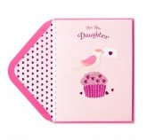Bird on Cupcake Valentine's Day Card