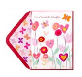 Handmade Growing Hearts Flowers Valentine's Day Card