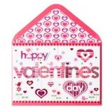 Happy Valentine's Day Lettering Card