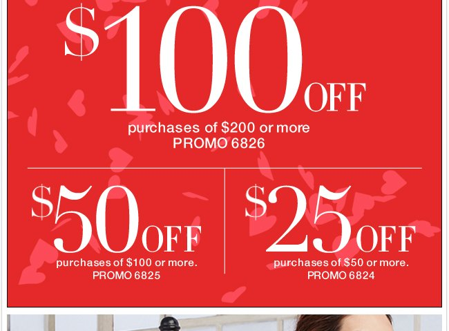Save up to $100 in stores & online!