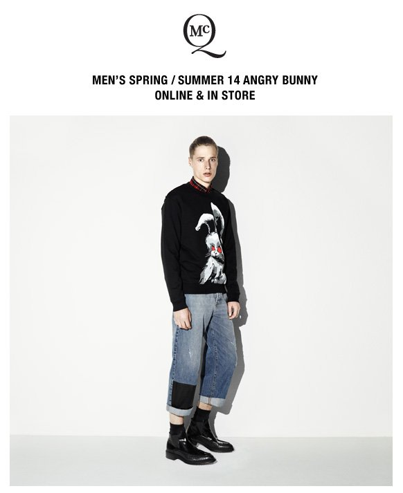 Men's S/S 14 McQ. Angry Bunny.