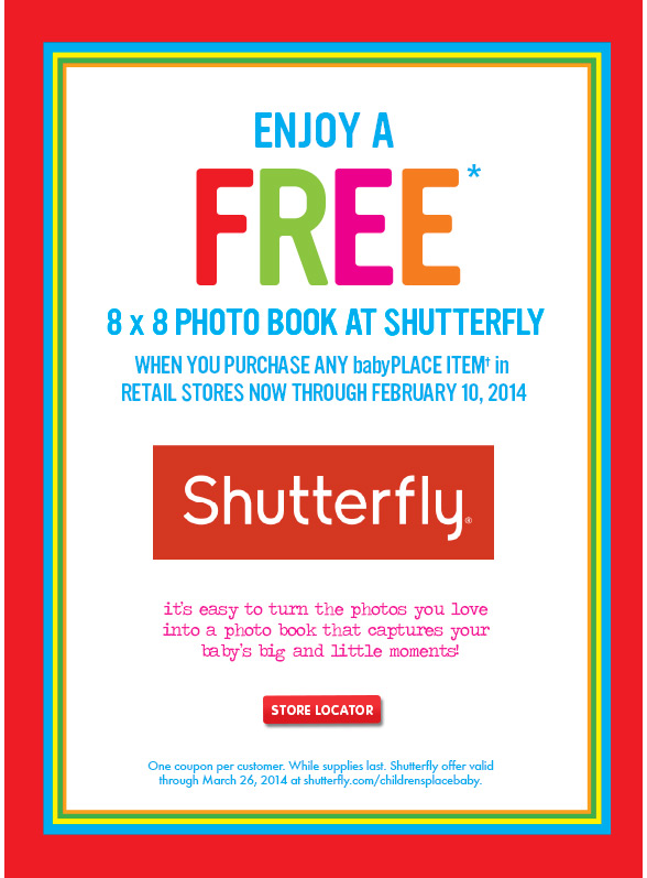 children s place enjoy a free photo book at shutterfly details