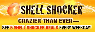 SHELL SHOCKER - CRAZIER THAN EVER-SEE 5 SHELL SHOCKER DEALS EVERY WEEK DAY