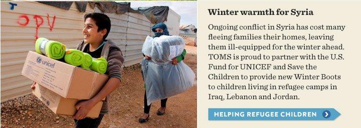 Winter warmth for Syria - helping refugee children