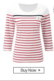 Buy the Striped Sailor Neck T-Shirt