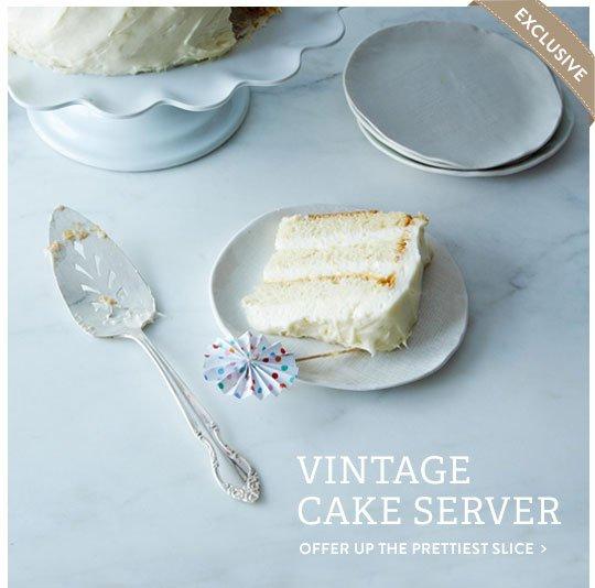 Vintage Cake Server