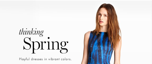 thinking Spring | Playful dresses in vibrant colors.