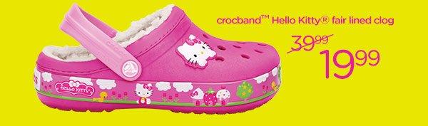 crocband Hello Kitty fair lined clog