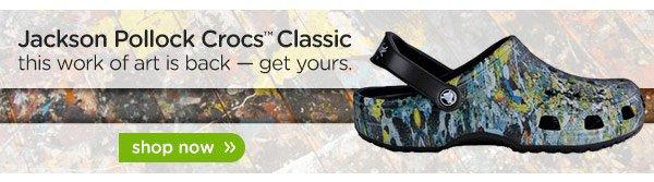 Jackson Pollock Crocs Classic - shop now