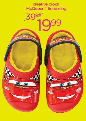 creative crocs McQueen lined clog