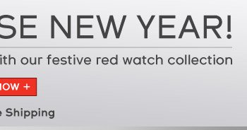 Celebrate the Year of the Horse with our festive red watch collection. Enjoy Free Shipping