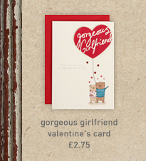 gorgeous girlfriend valentine's card