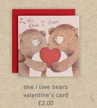 one i love bears valentine's card