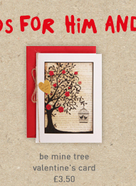 be mine tree valentine's card