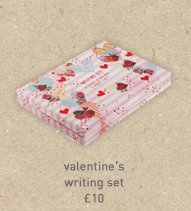 valentine's writing set