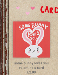some bunny loves you valentine's card