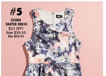 Scuba Skater Dress $59.95