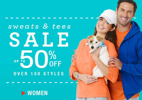 Shop and get up to 50% off all Sweats & Tees for Her