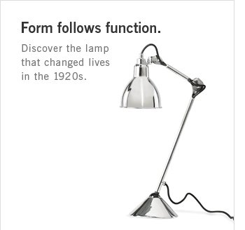 Form follows function. Discover the lamp that changed lives in the 1920s.