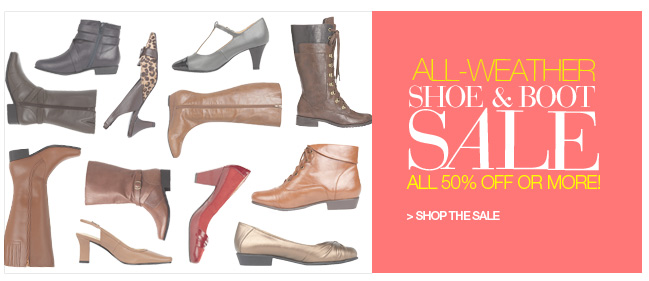 Shop Shoe and Boot Sale, All 50% off or more!