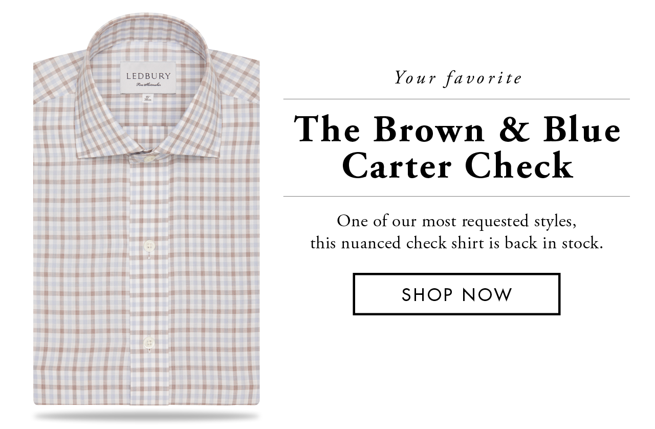 The Brown Blue Carter Check