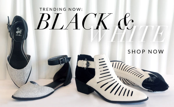 Trending this Spring: Black & White Shoes