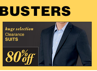 DOORBUSTER Clearance Suits - 80% Off*