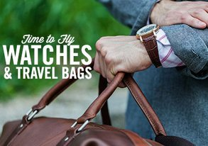 Shop Time to Fly: Watches & Travel Bags