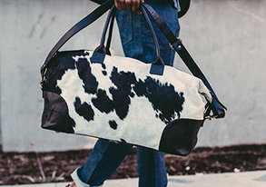 Shop NEW Statment Bags ft. Cowhide