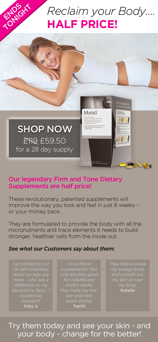 ENDS TONIGHT: Our Legendary Firm and Tone Supplements... for Half Price!