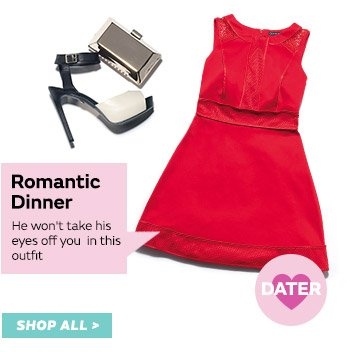 Keep the romance flowing in this gorgeous outfit
