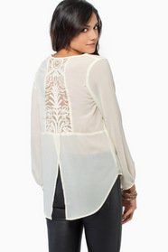 Chantilly Lace Back Blouse 36