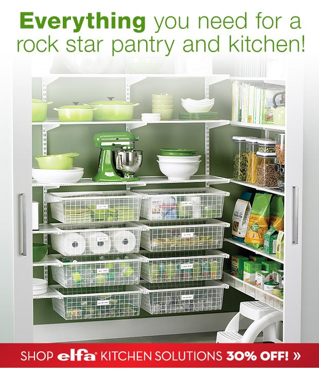 Everything you need for a rock star pantry and kitchen!