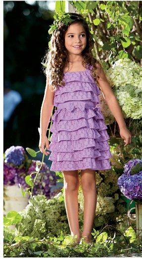 violet eyelet dress