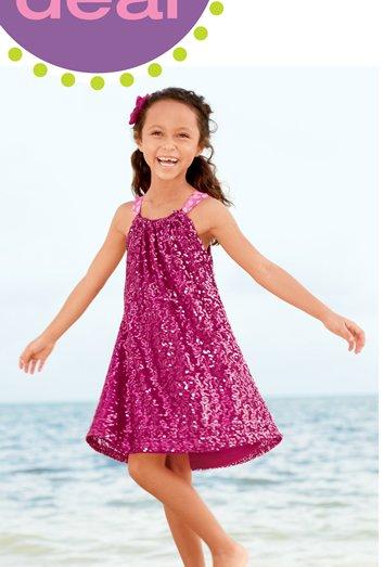 hot pink sequin dress