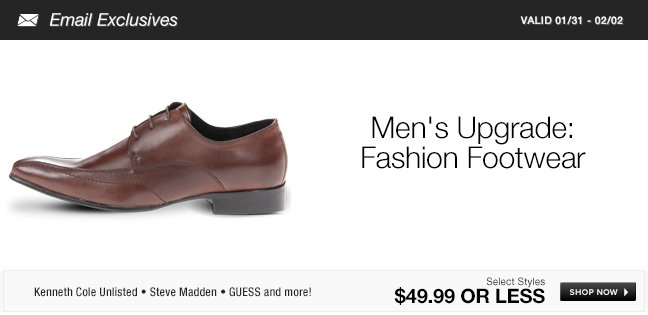 Men's Upgrade: Fashion Footwear