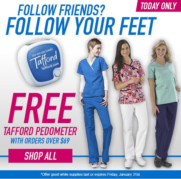 FREE Tafford Pedometer with orders over $69 - Shop All