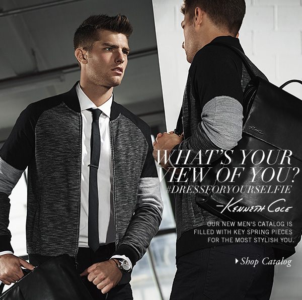 OUR NEW MEN'S CATALOG IS FILLED WITH KEY SPRING PIECES FOR THE MOST STYLISH YOU. // Shop Catalog