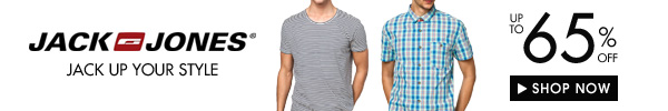 Jack and Jones up to 65% off