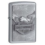 Zippo 20230-HD Harley Davidson Classic Street Chrome Iron Eagle Emblem Windproof Lighter