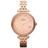 Fossil ES3182 Women's Heather Rose Gold Dial Rose Gold Steel Bracelet Watch