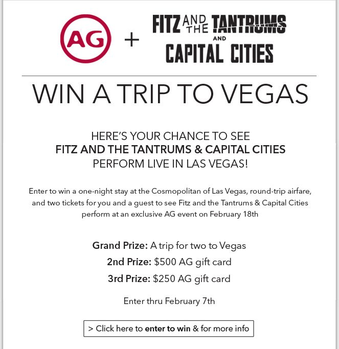 Win A Trip To Vegas