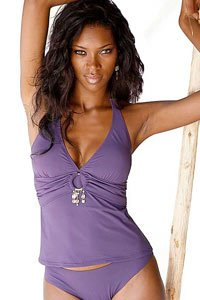 Jette Purple Ring & Pearl Tankini £49
