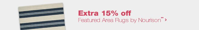 Extra 15% off Featured Area Rugs by Nourison**