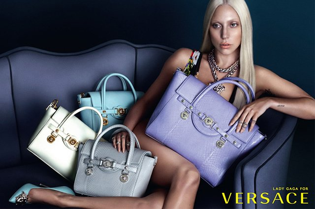Versace Lady Gaga SS 2014 Advertising Campaign