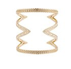 HOUSE OF HARLOW 1960 - Gold Textured Cut Out Cuff